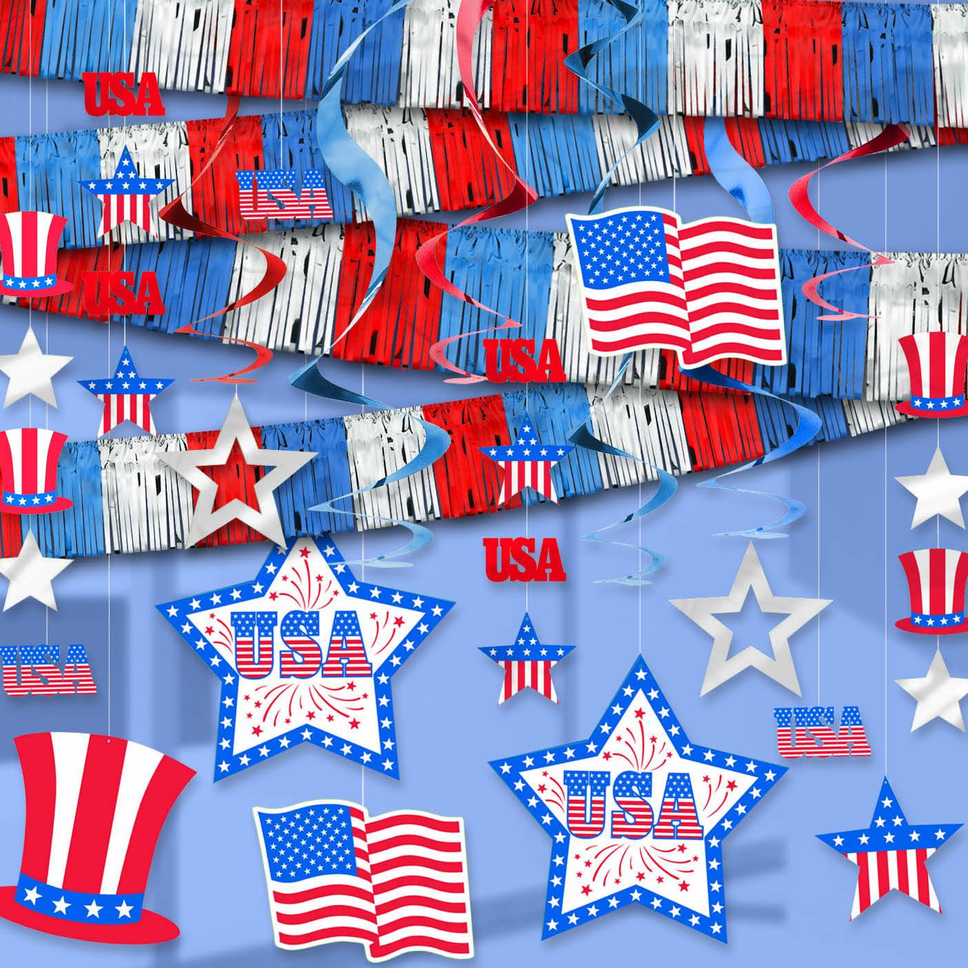 Patriotic Decorations Part - 49: ... Patriotic Decorations To FLGPDEC1000009162_-00_patriotic-room-decorating -kit
